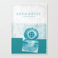 submarine Canvas Prints featuring Submarine by Ben Mcleod