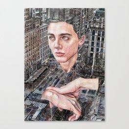 New Yorker Canvas Print