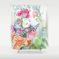 alice in wonderland Shower Curtains featuring WonderLand by Kao Lee Thao @InnerSwirl.com