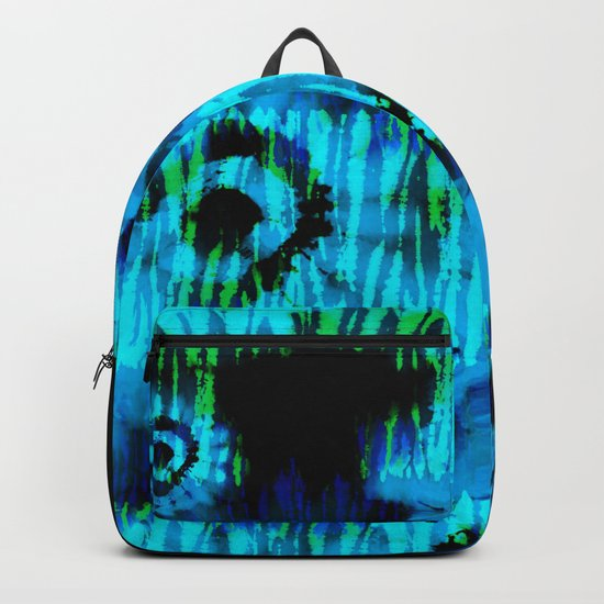 Blue and Green Tie Dye Backpack