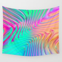 Abstract Colorful Waves Wall Tapestry