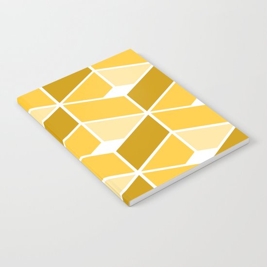 Simple Pattern Yellow Notebook