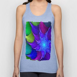 Artistic fractal abstract colour wheel Unisex Tank Top