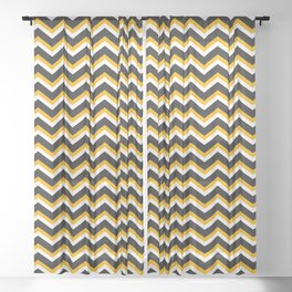 Happy halloween geometric zigzag pattern Sheer Curtain
