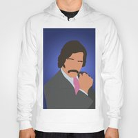 anchorman Hoodies featuring Brian Fantana - Anchorman by Tom Storrer