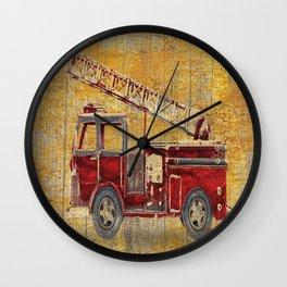 Vintage Firetruck Wall Clock