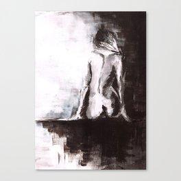 Woman nude Canvas Print
