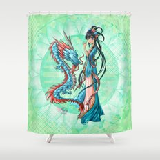 Blue dragon Shower Curtain