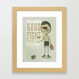 GO THE DISTANCE Framed Art Print