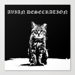 CAT METAL : Avian Desecration Canvas Print