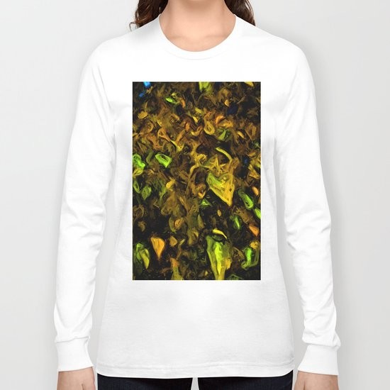 Tree with Brown, Gold and Green Leaves Long Sleeve T-shirt