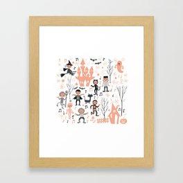 Love shack monsters halloween party Framed Art Print