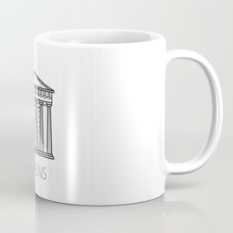 Acropolis Athens Greece Black and White Coffee Mug