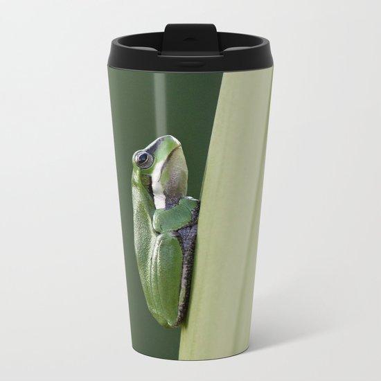 Dwarf Green Tree Frog Metal Travel Mug