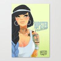jasmine Canvas Prints featuring Jasmine by Emmanuel Viola