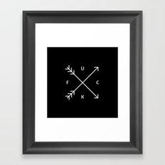 FUCK (Black & White) Framed Art Print