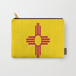 flag new mexico-usa,america,sun,Zia Sun symbol,New Mexican,Albuquerque,Las Cruces,santa fe,roswell Carry-All Pouch