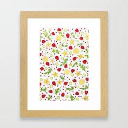 Fruits and vegetables pattern (6) Framed Art Print