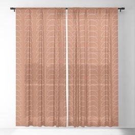 Maude Outline Pattern XI Sheer Curtain