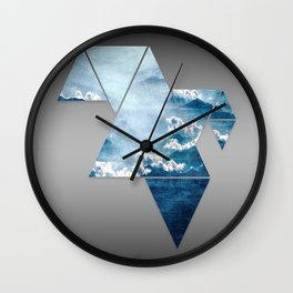 Fragmented Clouds Wall Clock