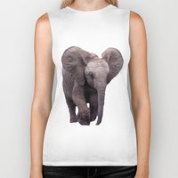 baby elephant Biker Tanks featuring Baby Elephant by Erika Kaisersot