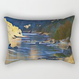 Rio Grande at the John Dunn Bridge on a Winters Day by CheyAnne Sexton Rectangular Pillow