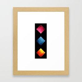Colored Diamond Squares Framed Art Print