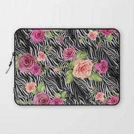 Zebra and Roses Laptop Sleeve