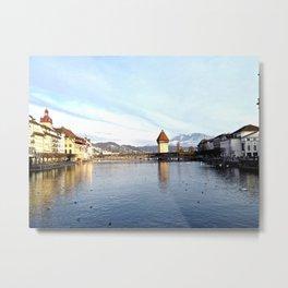 Lucerne Bridge 2014 Metal Print