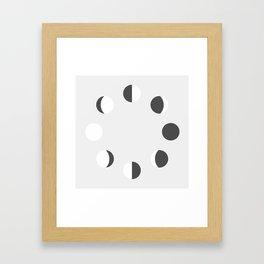 MOON PHASES II Framed Art Print
