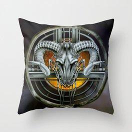 """""""Astrological Mechanism - Aries"""" Throw Pillow"""
