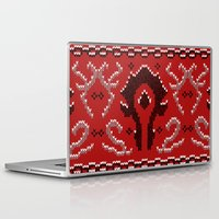 warcraft Laptop & iPad Skins featuring Ugly Sweater 2 by SlothgirlArt