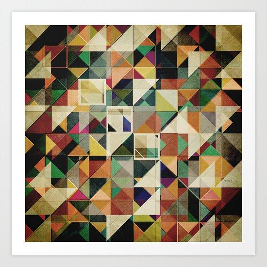 Earth Tones Abstract Art Print