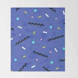 Memphis pattern 57 Throw Blanket