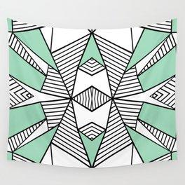 Triangle Tribal Mint Wall Tapestry