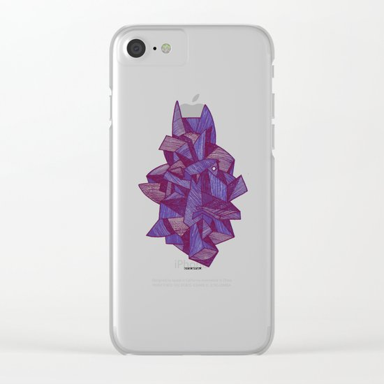 - batpunk - Clear iPhone Case