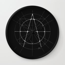 XXIst Century Anarchy Monochrome Wall Clock
