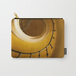 Brown and golden spiral staircase Carry-All Pouch