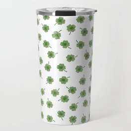 Light Green Clover Travel Mug