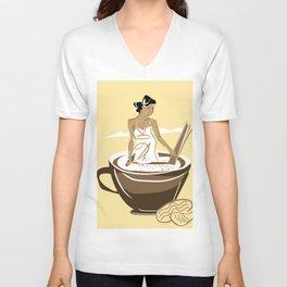 vanilla cafe2 Unisex V-Neck