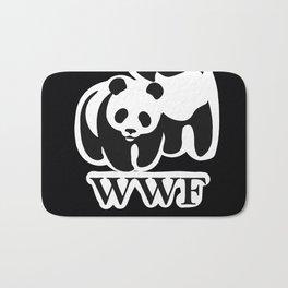 wwf parody panda Bath Mat