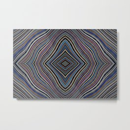 Wild Wavy Lines XXVIII Metal Print