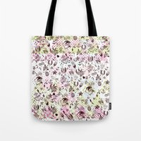 tattoos Tote Bags featuring TATTOOS LOVE by Stylegrafico