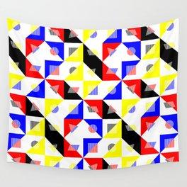 Bauhaus Checker Pattern Wall Tapestry