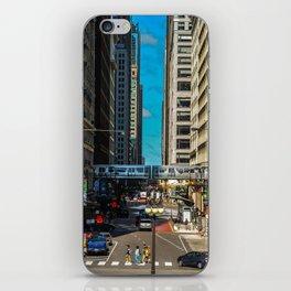 Cartoony Downtown Chicago iPhone Skin