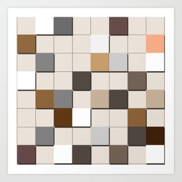 Incomplete Wall Tiles Art Print