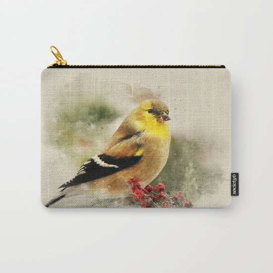 Goldfinch Watercolor Art Carry-All Pouch