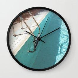 Swimming Pool IV Wall Clock