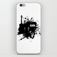 elvis iPhone & iPod Skins featuring ELVIS by Ryan Anderson