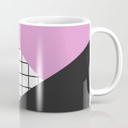 Geometry: black, pink and squres Coffee Mug